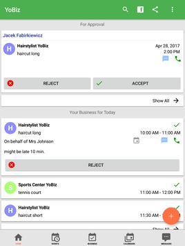 YoBiz Booking Manager apk screenshot
