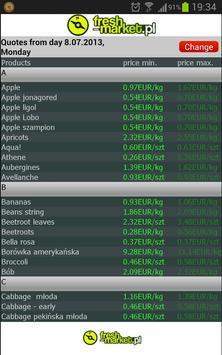 Bananas and fruit prices apk screenshot