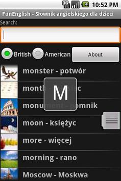 Słownik angielski dla dzieci apk screenshot
