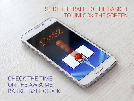 Basketball lock screen apk screenshot