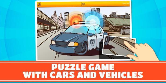 Cars & Vehicles Kids Puzzles 2 poster