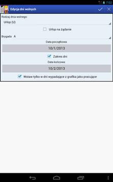 Harmonogram pracy apk screenshot