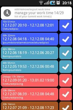 WorkTimeLog apk screenshot