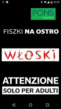 Fiszki na ostro PONS - włoski poster