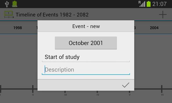 Timeline of Events screenshot 2