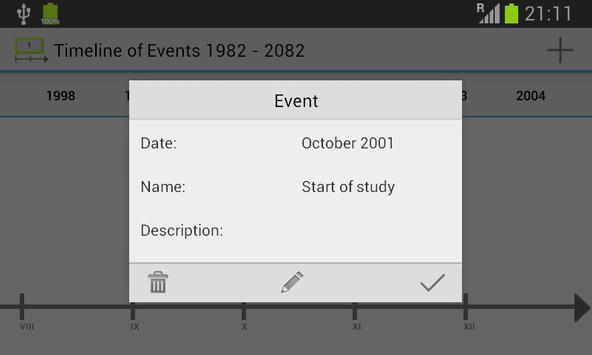 Timeline of Events screenshot 4