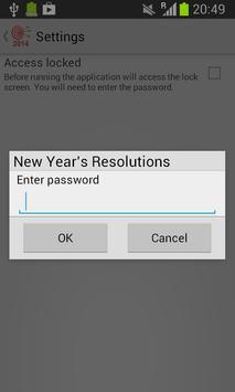 New Year's Resolutions apk screenshot
