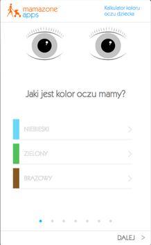 Kalkulator koloru oczu dziecka poster