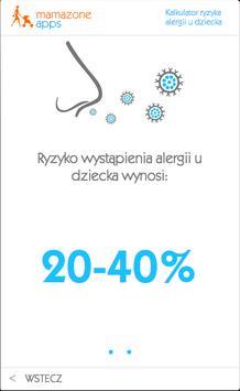 Kalkulator ryzyka alergii apk screenshot