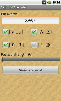 Password Generator screenshot 1
