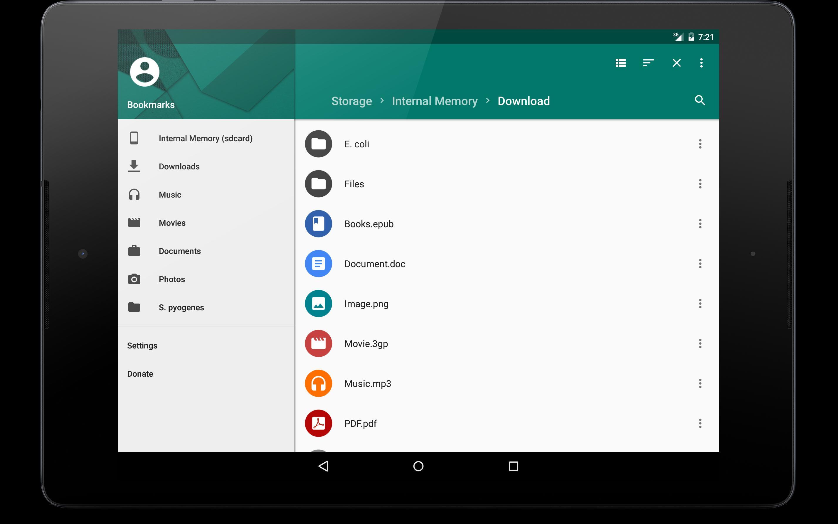 Instal aplikasi MK Explorer (File manager)