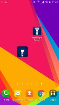 Flashlight Galaxy S7 + S8 apk screenshot
