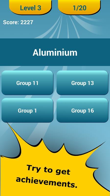 Periodic table quiz apk download free education app for android periodic table quiz apk screenshot urtaz Image collections