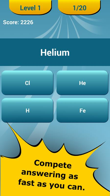 Periodic table quiz apk download free education app for android periodic table quiz apk screenshot urtaz Image collections