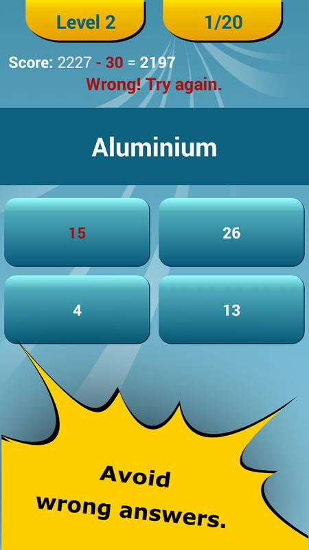 Periodic table quiz apk download free education app for android periodic table quiz apk screenshot urtaz Gallery