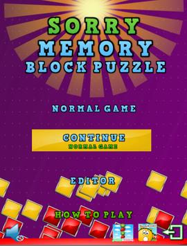 Sorry Memory Block Puzzle screenshot 13