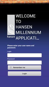 Hansen Millennium App Test apk screenshot