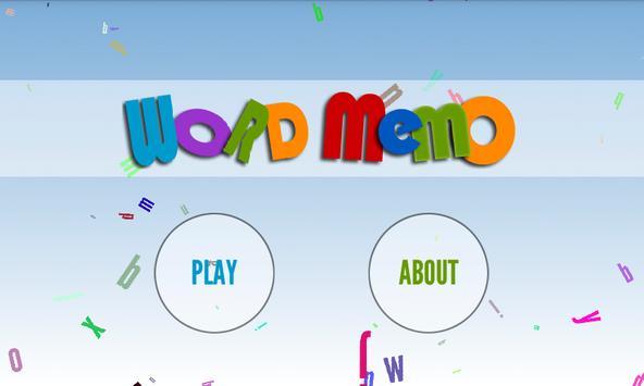 Word Memo - memory game poster