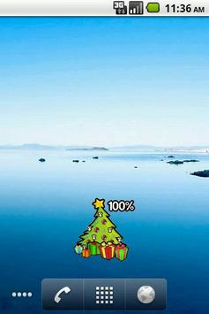Christmas tree Battery Widget poster
