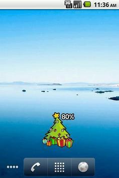 Christmas tree Battery Widget screenshot 1