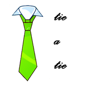 How to tie a tie icon