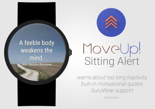 MoveUp! Sitting Alert for Wear poster