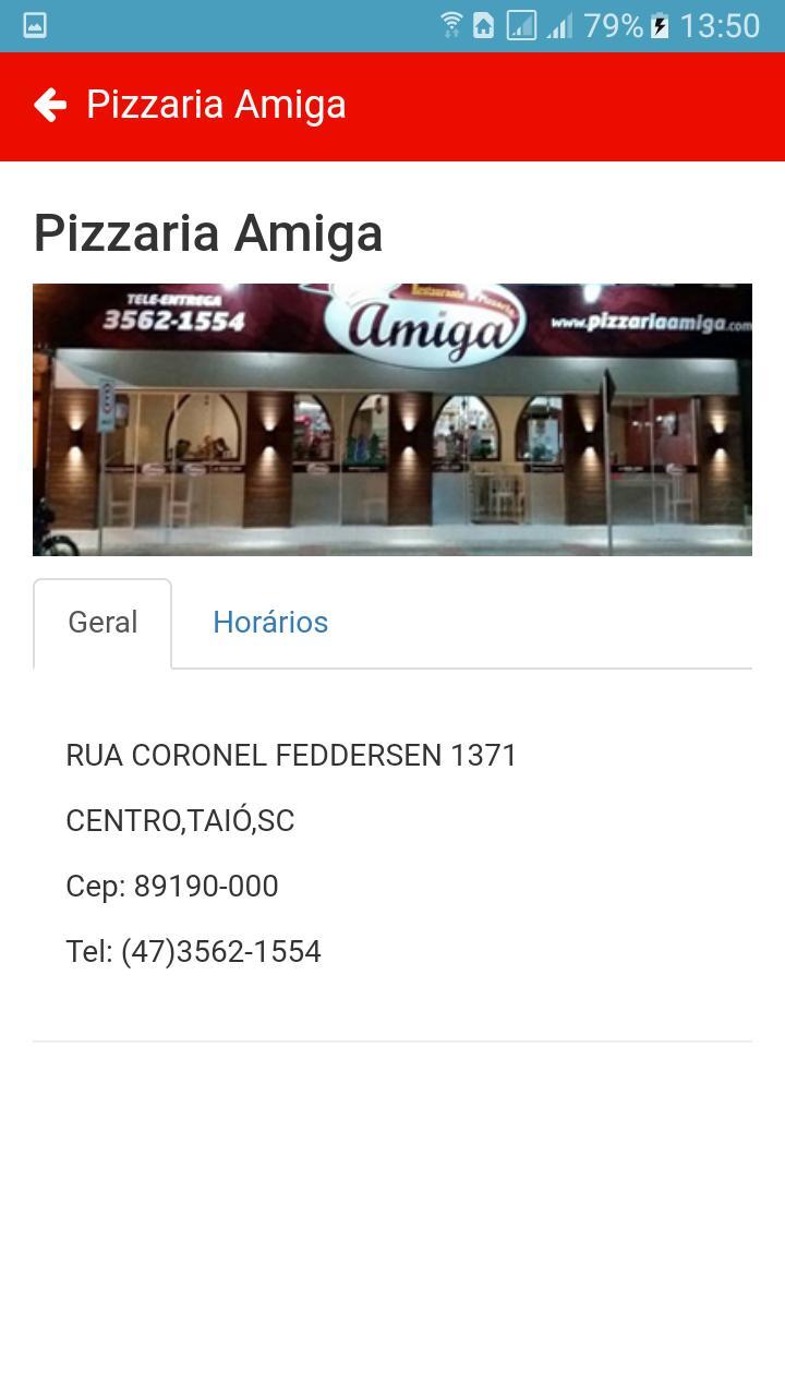 Pizzaria Amiga poster