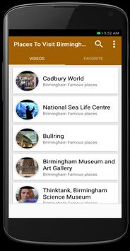 Places To Visit Birmingham poster