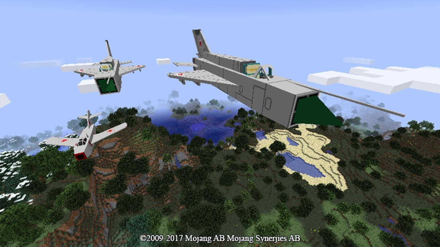 Мод aircraft для майнкрафт пе