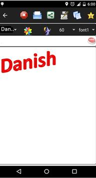 danish keyboard poster