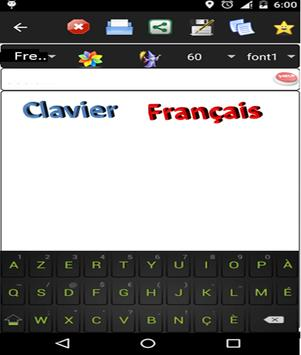 french keyboard poster