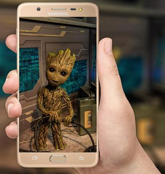 Baby Groot Wallpaper poster