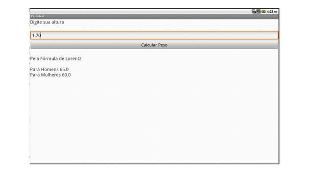 Peso Ideal Lorentz screenshot 1