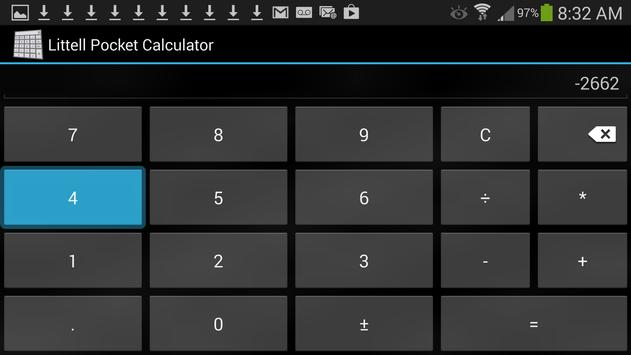 Littell Pocket Calculator apk screenshot