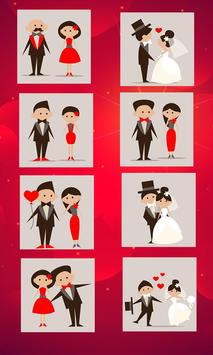 Romantic stickers for chat poster