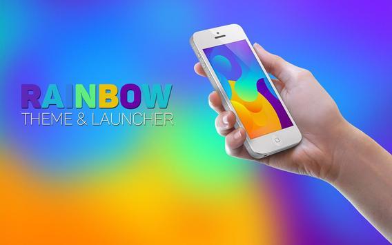 Rainbow Theme and Launcher 2017 apk screenshot
