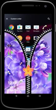 Flowers Zipper Screen apk screenshot