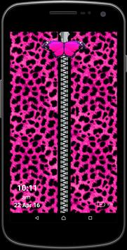 Pink Girly Leopard Screen poster