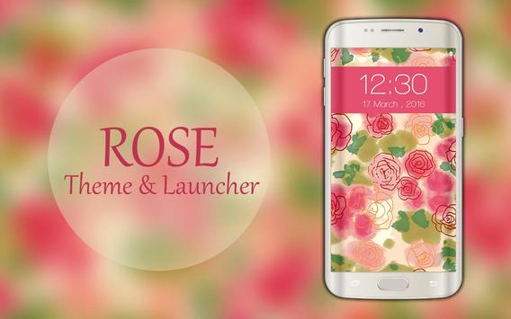 Rose Theme and Launcher 2018 apk screenshot
