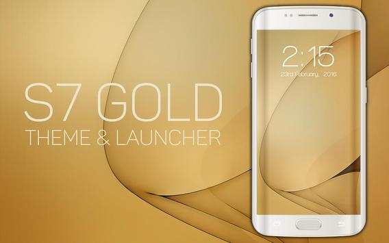Theme for Galaxy S7 Gold apk screenshot