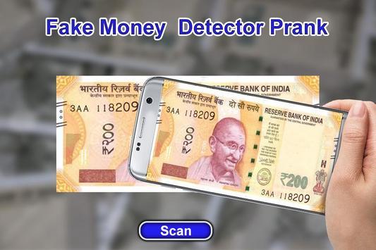 Fake Money Detector Prank poster
