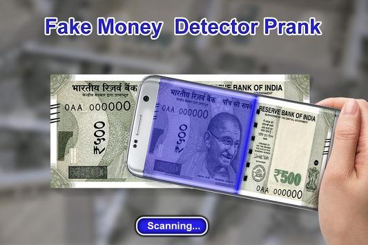 Fake Money Detector Prank screenshot 1