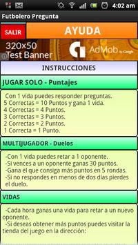 Futbolero Pregunta apk screenshot
