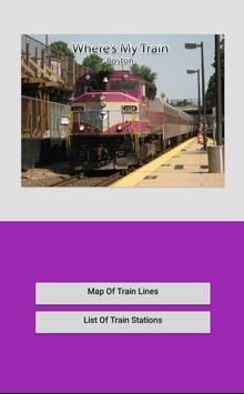 Where's My Train Boston screenshot 1