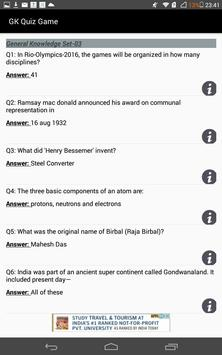 Indian History Quiz SSC apk screenshot