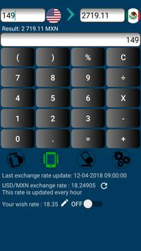 US Dollar currency to Mexican Peso or MXN to USD apk screenshot