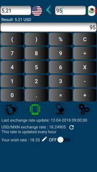 US Dollar to Mexican Peso or MXN to USD screenshot 2