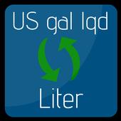 US Liquid Gallon to Liter | Liter to US gal lqd icon