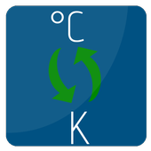 °C to K   Kelvin to Celsius conversion icon