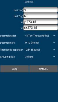 °C to K   Kelvin to Celsius conversion screenshot 3